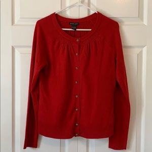 New York and Co. red cardigan